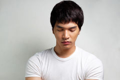 Portrait of Asian Male Model Royalty Free Stock Images