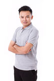 Portrait of asian man crossing his arms Royalty Free Stock Photos