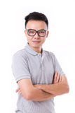 Portrait of asian man crossing his arms Royalty Free Stock Image
