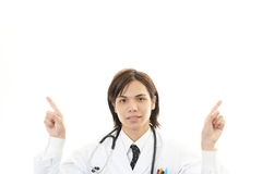 Portrait of an Asian medical doctor pointing Stock Photography