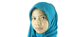 Portrait of asian moslem girl Stock Photos