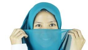 Portrait of asian moslem girl Stock Images
