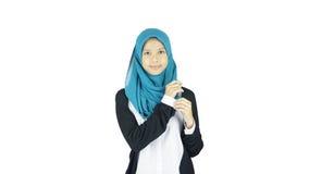 Portrait of asian moslem girl Stock Image