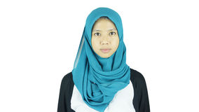 Portrait of asian moslem girl Royalty Free Stock Photography