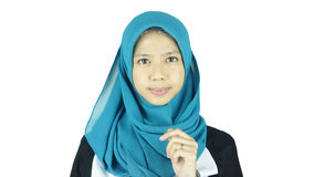 Portrait of asian moslem girl stock photography
