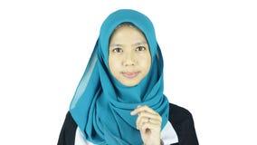 Portrait of asian moslem girl Stock Photography