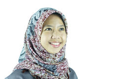 Portrait of asian moslem girl Stock Images