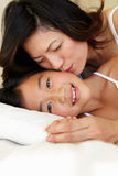 Portrait Asian mother and daughter Stock Photography