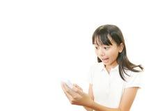 Portrait of an Asian schoolgirl Stock Images