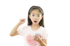 Portrait of an Asian schoolgirl Stock Image