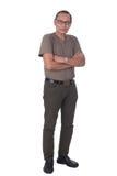 Portrait of asian senior man standing stock photos