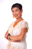 Portrait of asian senior woman Royalty Free Stock Photography