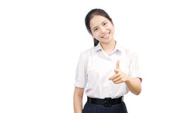 Portrait of an Asian student Stock Photography