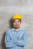 Portrait of asian technician Stock Images