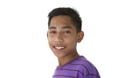 Portrait of asian teen. Isolated in white background Royalty Free Stock Photo