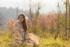 Portrait of asian traditional woman Stock Photos