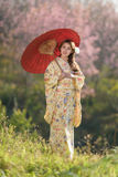 Portrait of asian traditional woman Royalty Free Stock Image