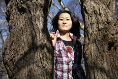Portrait of an asian woman Stock Image