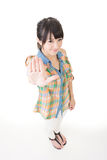 Portrait of a asian woman gesturing a stop sign Stock Photos