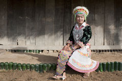 Portrait Asian woman Laos, Hmong Royalty Free Stock Images