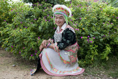 Portrait Asian woman Laos, Hmong Stock Image