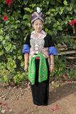 Portrait Asian woman Laos, Hmong Royalty Free Stock Image