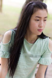 Portrait asian woman outdoors Royalty Free Stock Images