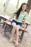 Portrait asian woman outdoors Stock Images