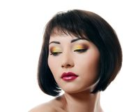 Portrait of asian woman with professional make-up Royalty Free Stock Image