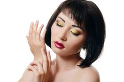 Portrait of asian woman with professional make-up Stock Photography