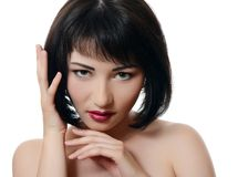Portrait of asian woman with professional make-up Stock Photos