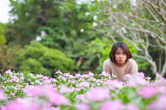 Portrait Asian woman standing. Stock Images