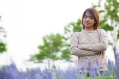 Portrait Asian woman standing. Royalty Free Stock Photos
