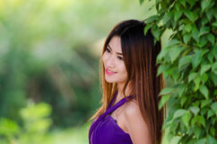 Portrait of a Asian woman. Royalty Free Stock Photo