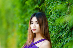 Portrait of a Asian woman. Royalty Free Stock Image