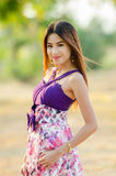 Portrait of a Asian woman. Royalty Free Stock Images