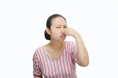 Portrait of Asian woman who covers her nose Stock Photography