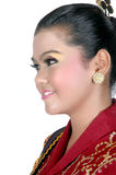 Portrait of an asian young girl dressed in traditional indigenous tribal borneo Royalty Free Stock Image