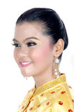 Portrait of an asian young girl dressed in traditional indigenous tribal borneo Royalty Free Stock Photography