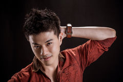 Portrait of Asian young man Stock Photography