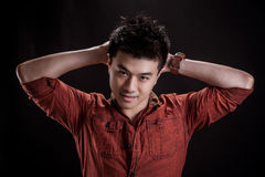 Portrait of Asian young man Stock Photo
