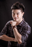 Portrait of Asian young man Stock Photos