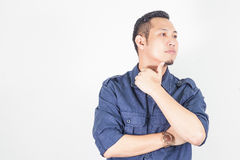 Portrait of Asian young man - education concept Stock Images