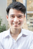 Portrait of Asian young man Stock Image