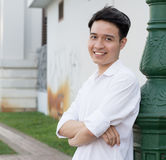 Portrait of Asian young man Stock Images