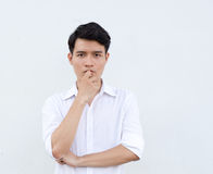 Portrait of Asian young man Royalty Free Stock Photo