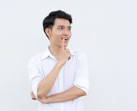 Portrait of Asian young man Royalty Free Stock Images