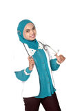 Portrait of Asian young woman doctor Stock Images