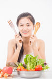 Portrait of asian young woman Royalty Free Stock Photos