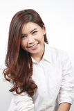 Portrait of Asian young woman smiling Royalty Free Stock Images
